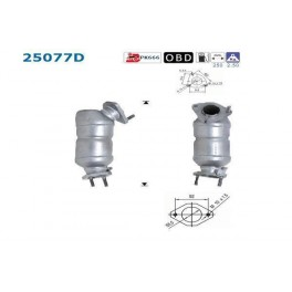 CD72708 Catalyseur MAZDA PREMACY 2.0